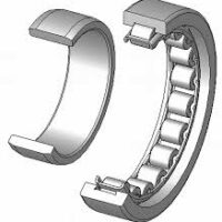 Cylindrical type NU bearing